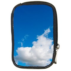 Bright Blue Sky 2 Compact Camera Leather Case by ansteybeta