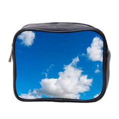 Bright Blue Sky 2 Mini Travel Toiletry Bag (two Sides) by ansteybeta