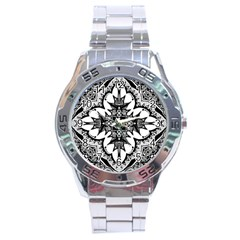 Doodle Cross  Stainless Steel Watch