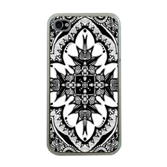Doodle Cross  Apple Iphone 4 Case (clear) by KirstenStar