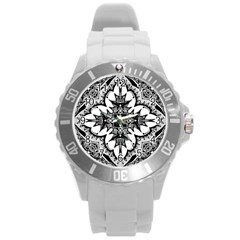 Doodle Cross  Plastic Sport Watch (large) by KirstenStar