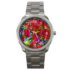 Music Festival Sport Metal Watch by icarusismartdesigns