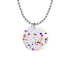 Multicolor Splatter Abstract Print Button Necklace by dflcprints