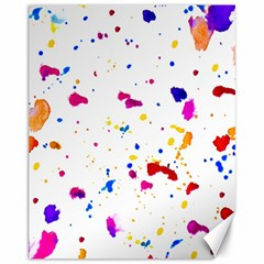 Multicolor Splatter Abstract Print Canvas 11  X 14  (unframed) by dflcprints