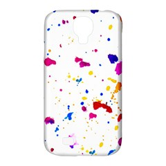 Multicolor Splatter Abstract Print Samsung Galaxy S4 Classic Hardshell Case (pc+silicone) by dflcprints