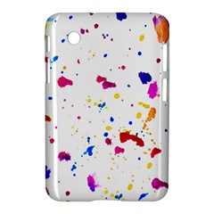 Multicolor Splatter Abstract Print Samsung Galaxy Tab 2 (7 ) P3100 Hardshell Case  by dflcprints