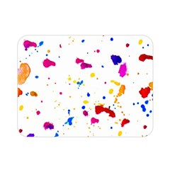 Multicolor Splatter Abstract Print Double Sided Flano Blanket (mini) by dflcprints