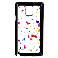 Multicolor Splatter Abstract Print Samsung Galaxy Note 4 Case (black) by dflcprints