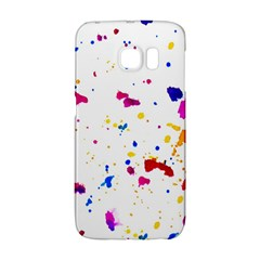 Multicolor Splatter Abstract Print Samsung Galaxy S6 Edge Hardshell Case by dflcprints