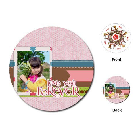 Kids By Kids   Playing Cards (round)   Kdiu2dwu2coq   Www Artscow Com Front