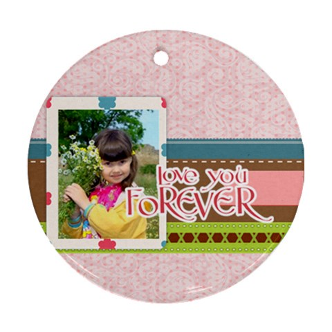 Kids By Kids   Ornament (round)   Kp1cmvthzaf1   Www Artscow Com Front