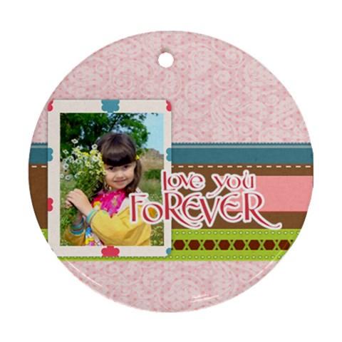 Kids By Kids   Ornament (round)   Kp1cmvthzaf1   Www Artscow Com Front
