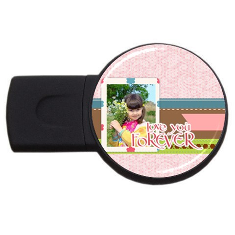 Kids By Kids   Usb Flash Drive Round (1 Gb)   O153fihmu7d8   Www Artscow Com Front