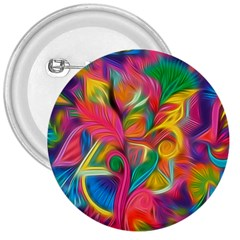 Colorful Floral Abstract Painting 3  Button by KirstenStar