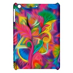 Colorful Floral Abstract Painting Apple Ipad Mini Hardshell Case by KirstenStar
