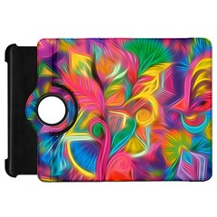 Colorful Floral Abstract Painting Kindle Fire Hd Flip 360 Case by KirstenStar