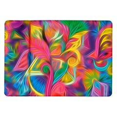 Colorful Floral Abstract Painting Samsung Galaxy Tab 10 1  P7500 Flip Case by KirstenStar