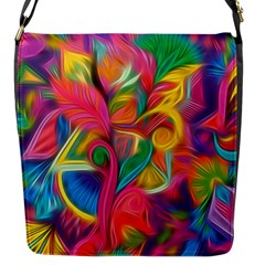 Colorful Floral Abstract Painting Flap Closure Messenger Bag (small) by KirstenStar