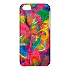Colorful Floral Abstract Painting Apple Iphone 5c Hardshell Case by KirstenStar