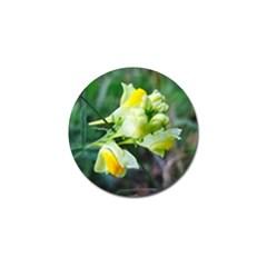 Linaria Flower Golf Ball Marker by ansteybeta
