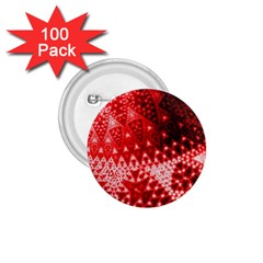 Red Fractal Lace 1 75  Button (100 Pack) by KirstenStar