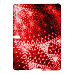 Red Fractal Lace Samsung Galaxy Tab S (10 5 ) Hardshell Case  by KirstenStar