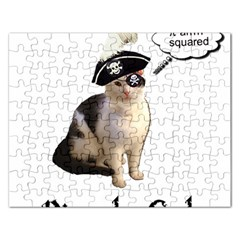 Pi Rate Cat Jigsaw Puzzle (rectangle) by brainchilddesigns