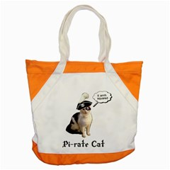 Pi Rate Cat Accent Tote Bag by brainchilddesigns
