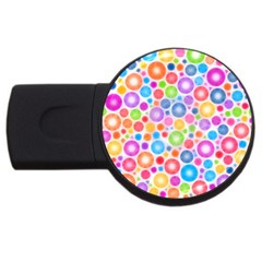 Candy Color s Circles 2gb Usb Flash Drive (round) by KirstenStar