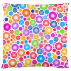 Candy Color s Circles Standard Flano Cushion Case (Two Sides) by KirstenStar