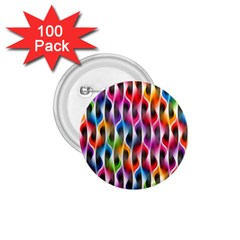 Rainbow Psychedelic Waves 1 75  Button (100 Pack) by KirstenStar