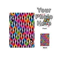 Rainbow Psychedelic Waves Playing Cards 54 Designs (mini) by KirstenStar
