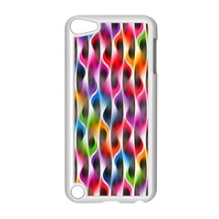 Rainbow Psychedelic Waves Apple Ipod Touch 5 Case (white) by KirstenStar