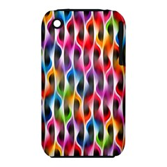 Rainbow Psychedelic Waves Apple Iphone 3g/3gs Hardshell Case (pc+silicone) by KirstenStar