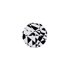 Shattered Life In Black & White 1  Mini Button by StuffOrSomething