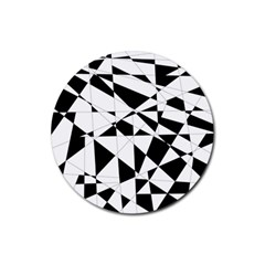 Shattered Life In Black & White Drink Coaster (round) by StuffOrSomething