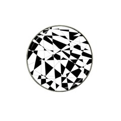 Shattered Life In Black & White Golf Ball Marker (for Hat Clip) by StuffOrSomething