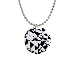Shattered Life In Black & White Button Necklace by StuffOrSomething