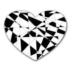 Shattered Life In Black & White Mouse Pad (heart) by StuffOrSomething