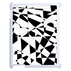 Shattered Life In Black & White Apple iPad 2 Case (White) by StuffOrSomething