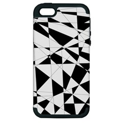 Shattered Life In Black & White Apple Iphone 5 Hardshell Case (pc+silicone) by StuffOrSomething