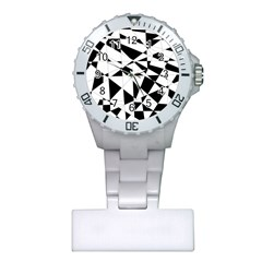Shattered Life In Black & White Nurses Watch by StuffOrSomething