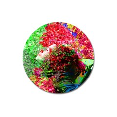 Summer Time Magnet 3  (round) by icarusismartdesigns
