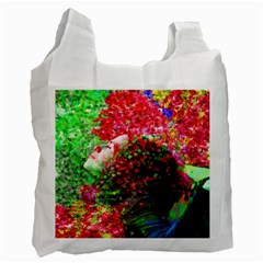 Summer Time White Reusable Bag (one Side) by icarusismartdesigns