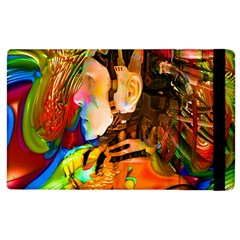 Robot Connection Apple Ipad 3/4 Flip Case by icarusismartdesigns