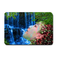 Fountain Of Youth Small Door Mat by icarusismartdesigns