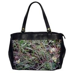 Linaria Grass Pattern Oversize Office Handbag (one Side) by ansteybeta