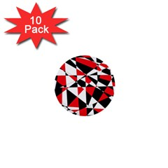 Shattered Life Tricolor 1  Mini Button (10 Pack) by StuffOrSomething