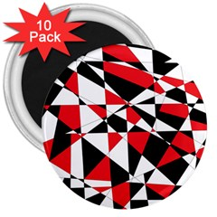 Shattered Life Tricolor 3  Button Magnet (10 pack) by StuffOrSomething