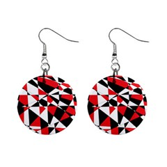 Shattered Life Tricolor Mini Button Earrings by StuffOrSomething